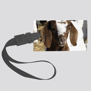 Cute kid goat Large Luggage Tag