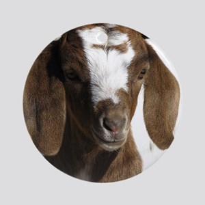 Cute kid goat Round Ornament