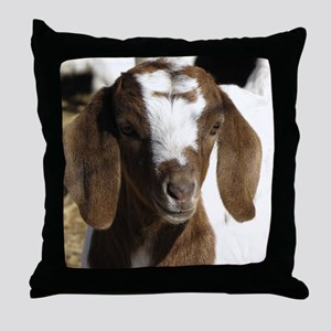 Cute kid goat Throw Pillow