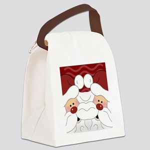 Santa Flip Flops Canvas Lunch Bag