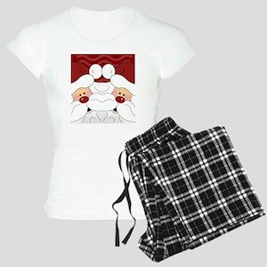 Santa Flip Flops Women's Light Pajamas