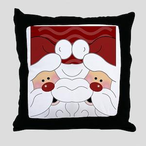 Santa Flip Flops Throw Pillow