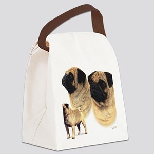 Pug blanket Canvas Lunch Bag