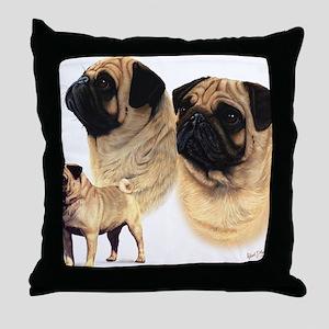 Pug blanket Throw Pillow
