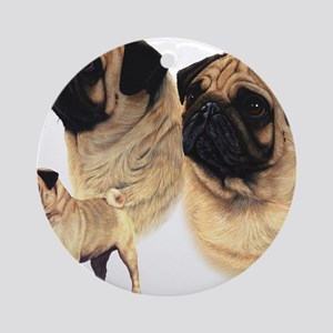 Pug blanket Round Ornament