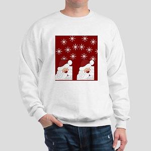 Santa Claus Holiday Christmas Flip Flop Sweatshirt