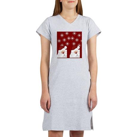 Santa Claus Holiday Christmas F Women's Nightshirt