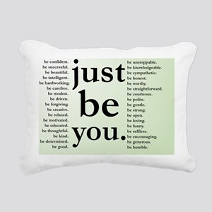 Just Be You Rectangular Canvas Pillow