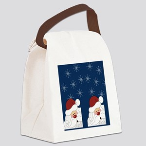 Santa Claus Holiday Flip Flops Bl Canvas Lunch Bag