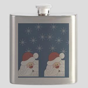 Santa Claus Holiday Flip Flops Blue Flask