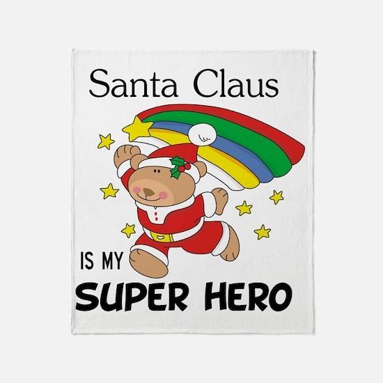Santa Claus is My Superhero Throw Blanket