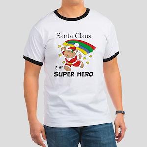 Santa Claus is My Superhero Ringer T