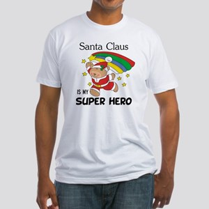 Santa Claus is My Superhero Fitted T-Shirt