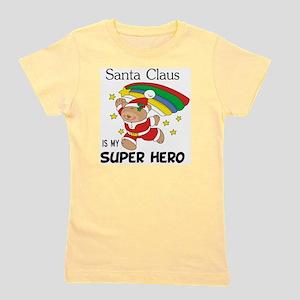 Santa Claus is My Superhero Girl's Tee