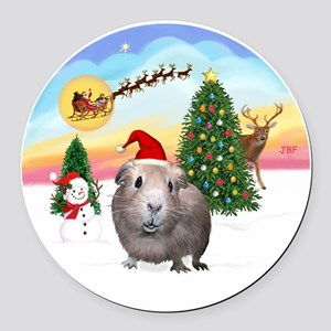 R-TakeOff-GuineaPig2 Round Car Magnet