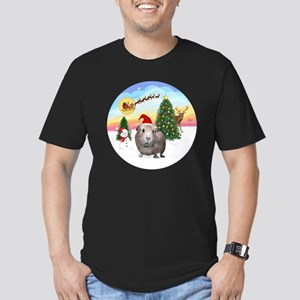 R-TakeOff-GuineaPig2 Men's Fitted T-Shirt (dark)