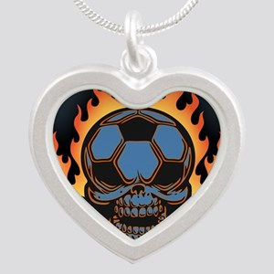 soccer-sk-flm-OV Silver Heart Necklace