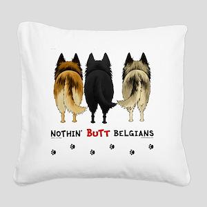 BelgianButtsNew Square Canvas Pillow