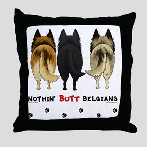 BelgianButtsNew Throw Pillow