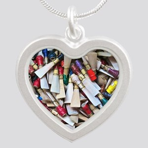 Reeds widest Silver Heart Necklace