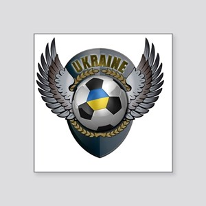 "soccer_ball_crest_ukraine Square Sticker 3"" x 3"""