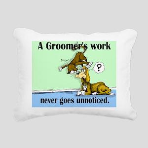 groomer work Rectangular Canvas Pillow