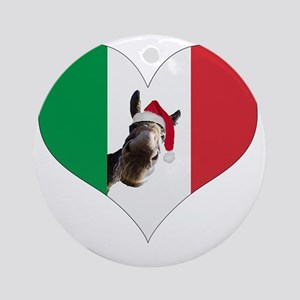 I heart Dominick Round Ornament