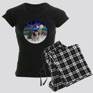 R-XMusic3-GuineaPig1-HAT Women's Dark Pajamas