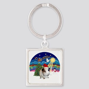 R-XMusic3-GuineaPig1-HAT Square Keychain