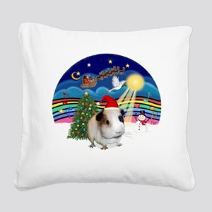 R-XMusic3-GuineaPig1-HAT Square Canvas Pillow
