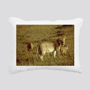 african lion female with Rectangular Canvas Pillow