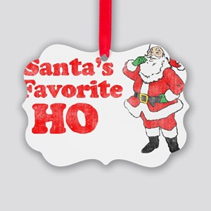 Santas Fav1 Picture Ornament