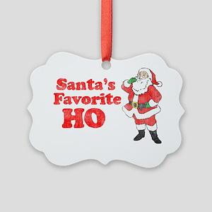 Santas Fav1 Picture Ornament