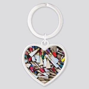 Reeds-framed print Heart Keychain