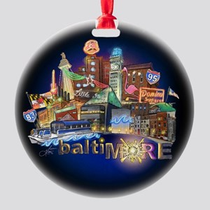baltiMORE Hot Spot Round Ornament