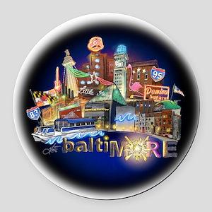 baltiMORE Hot Spot Round Car Magnet