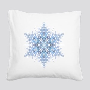 Snowflake Designs - 023 - tra Square Canvas Pillow