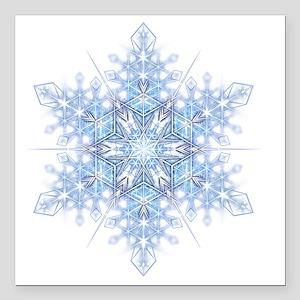 "Snowflake Designs - 023  Square Car Magnet 3"" x 3"""