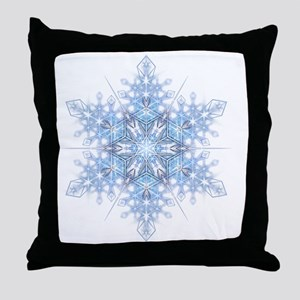 Snowflake Designs - 023 - transparent Throw Pillow