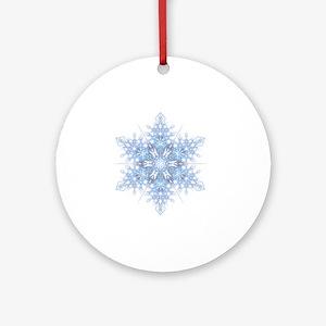 Snowflake Designs - 023 - transpare Round Ornament