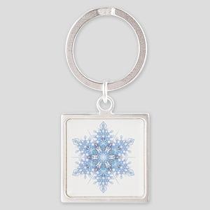 Snowflake Designs - 023 - transpar Square Keychain