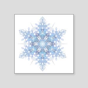 """Snowflake Designs - 023 - t Square Sticker 3"""" x 3"""""""