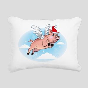 flyingchristmaspig Rectangular Canvas Pillow