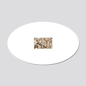 Lake stones 20x12 Oval Wall Decal