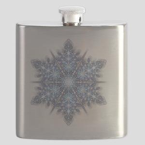 Snowflake Designs - 023 - transparent shadow Flask