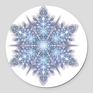 Snowflake Designs - 023 - transpa Round Car Magnet