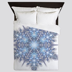 Snowflake Designs - 023 - transparent  Queen Duvet