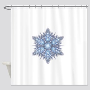 Snowflake Designs - 023 - transpare Shower Curtain