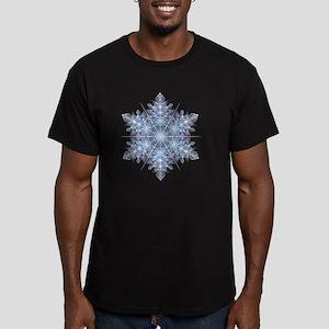 Snowflake Designs - 02 Men's Fitted T-Shirt (dark)