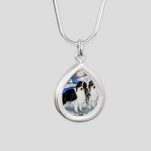 FROZENLAKE 2 2 Silver Teardrop Necklace